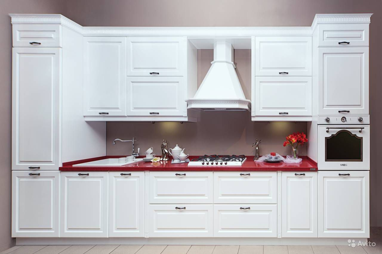 Кухня на заказ МДФ эмаль ''Белая классика''