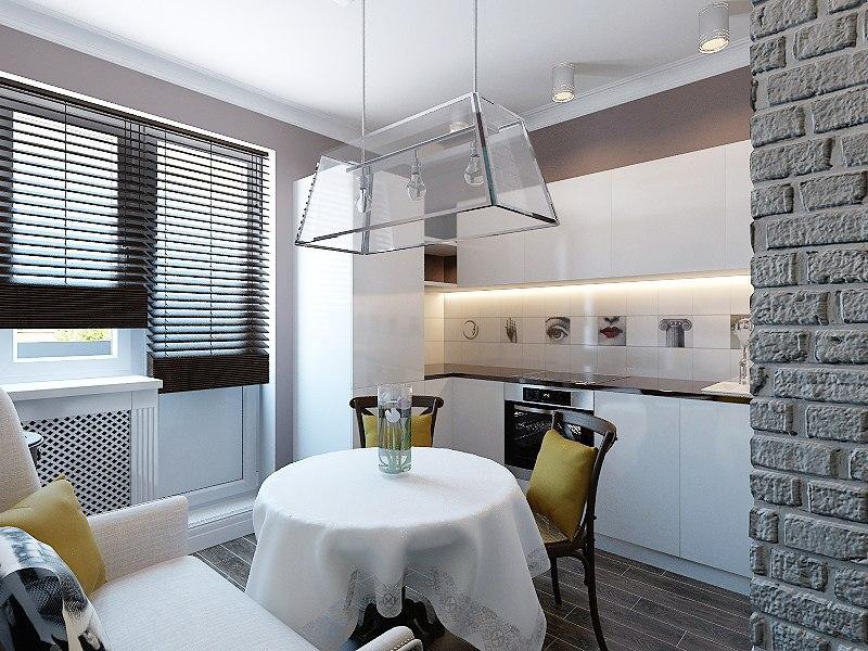 Кухня с фасадами с устройствами Push-to-Open