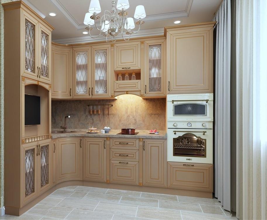 Небольшая раскошная кухня для типового дома