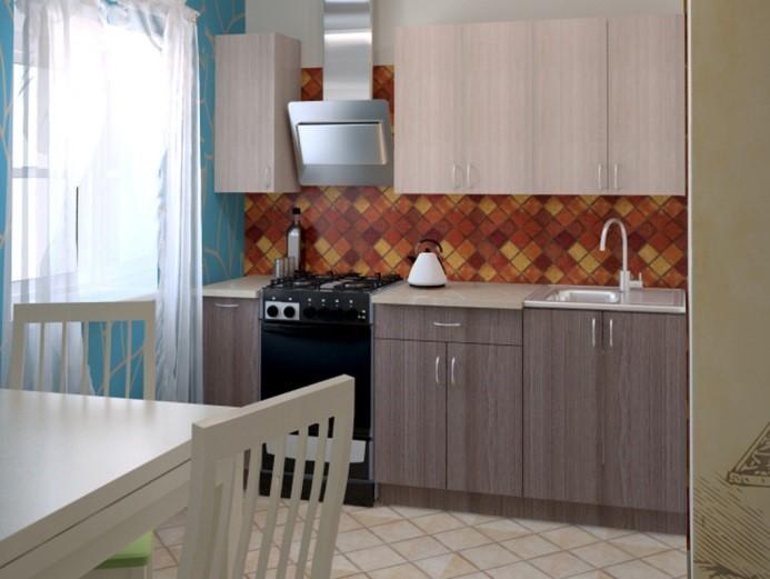 Эконом кухня с фасадами ЛДСП