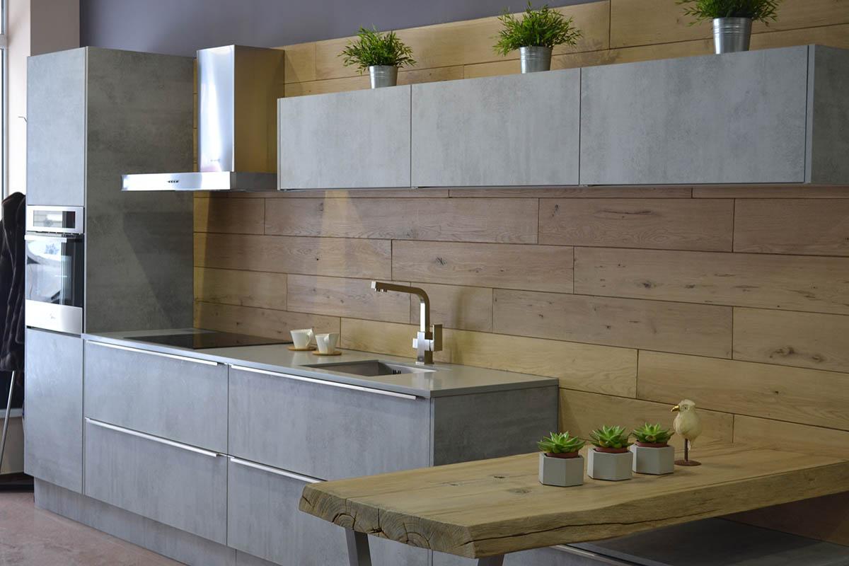 Модная кухня под бетон