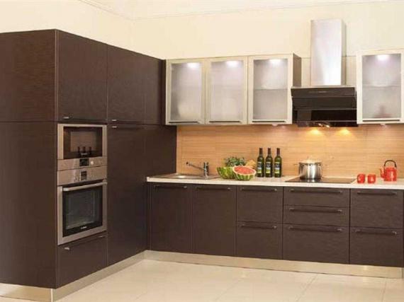 Совремнная кухня на заказ МДФ ПВХ ''Венге''