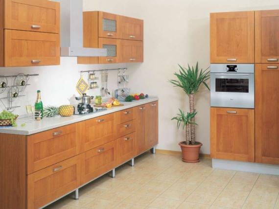 Встроенная кухоння из МДФ ПВХ ''Рыжая''