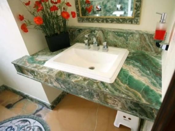 Мойдодыр из зелёного оникса, натурального камня №7