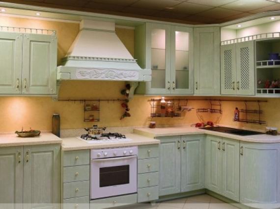 Модная качественная кухня в шпоне с эмалью № 2