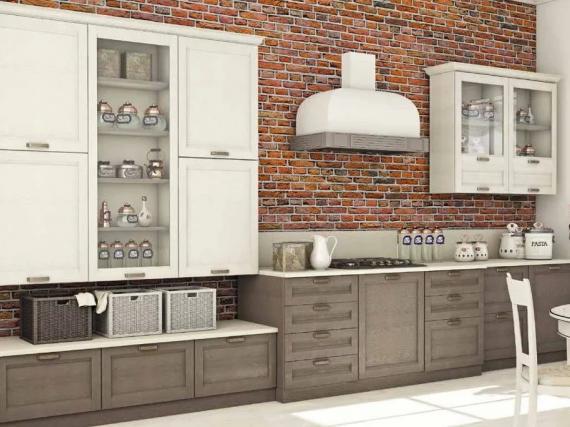 Кухня в шпоне в стиле Лофт