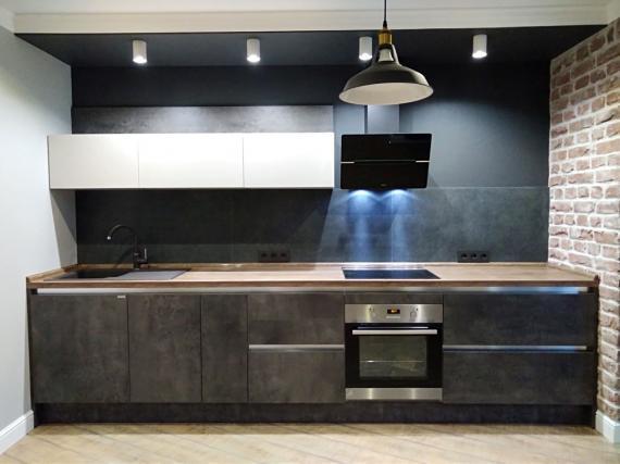Кухня в стиле ЛОФТ под бетон