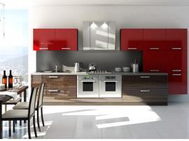 Алая кухня МДФ пластик с венге, современную кухню можно купить на заказ