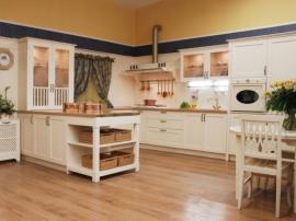 Белая кухня Тоскана с итальянскими фасадами благородно и просто одновременно