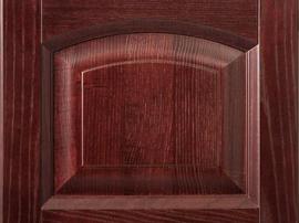 Фасад кухни массив дуба красивого натурального цвета красного дерева