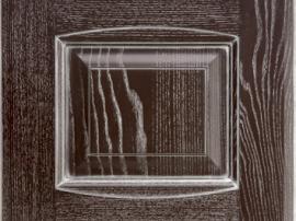 Фасад кухня массив коричневый шоколадный с серебряной патиной с фрезеровкой двойной аркой
