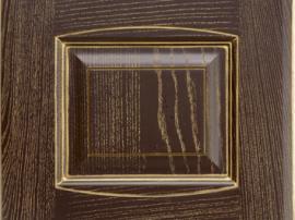 Фасад кухня массив коричневый шоколадный с золотой патиной с фрезеровкой двойной аркой