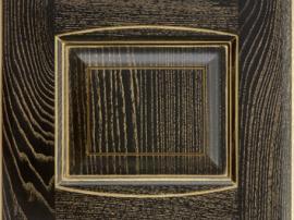 Фасад кухня массив коричневый темный с золотой патиной с фрезеровкой двойной аркой