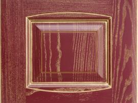 Фасад кухня массив вишневый с золотой патиной с фрезеровкой двойной аркой