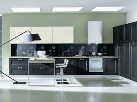 Итальянская кухня Гриджио шикарная новинка насыщенного серого цвета