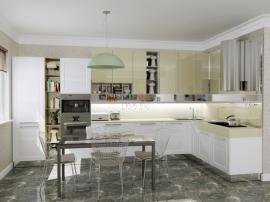 Красивая белоснежная кухня Скалли Бьянко
