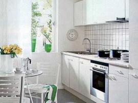 Кухня эконом класса для хрущевок белоснежная дешевая
