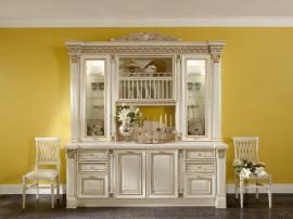 Кухня элитная слоновая кость с золотой патиной
