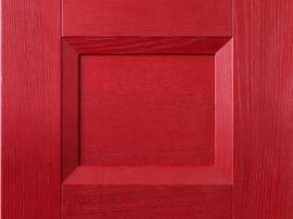Кухня массив фасад красный алый современный