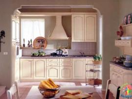 Кухня массив ясеня маленькая прямая