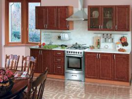 Кухня МДФ в пленке ПВХ с отдельно стоящей плитой, кухня недорогая