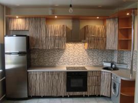 Кухня на заказ МДФ пластик зебра