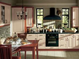 Кухня на заказ в английском стиле цвет слоновой кости изящная и простая