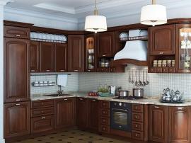Кухня Сандра Ноче угловая со встроенным холодильником