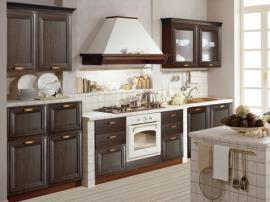 Кухня стиль прованс массив темных пород дерева кухня премиум классса СДК рамочный фасад