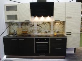 Кухня в стиле модерн ДжиТи венге с фактурным белым