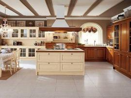 Кухонный гарнитур комбинированный на заказ массив дуба и крашеный массив