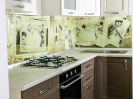 Скалли мокко кухня в совремненном стиле из массива граба