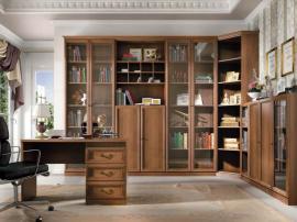 Мебель на заказ в библиотеку современная с класическими элементами из МДФ
