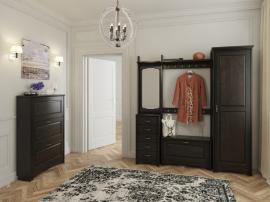 Мебель в прихожую черного цвета из МДФ с рамочными сборными фасадами премиум класса