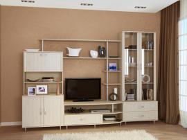 Модная белая гостиная из МДФ для маленьких квартир
