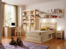 Роскошная детская мебель бежевого цвета на заказ из МДФ