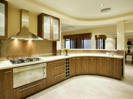 Современная модная кухня в мягком стиле лофт