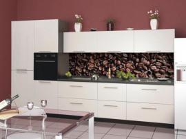 Красивая кухня МДФ пластик от производителя ''Белый кофе'' на заказ