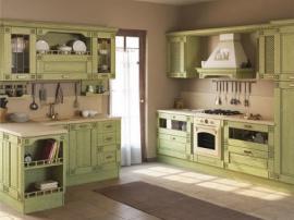"""Красивая кухня из массива """"Модерн С"""" покрытая эмалью"""