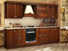 Прямая классическая кухня из массива Таткос