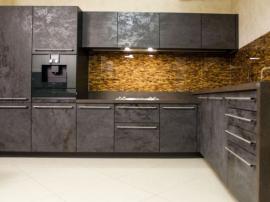 Кухня Alvic Synchron шоколадного цвета