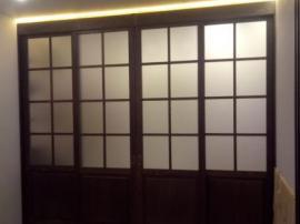 Раздвижные межкомнатные двери под цвет шкафа