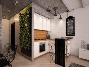 Кухни для студий по индивидуальным проектам